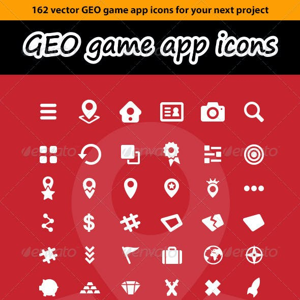 162 Vector GEO Game App Icons