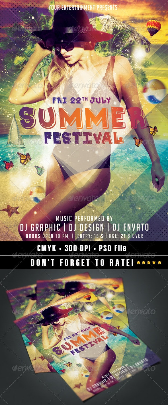 Summer Festival vol.2 - Events Flyers