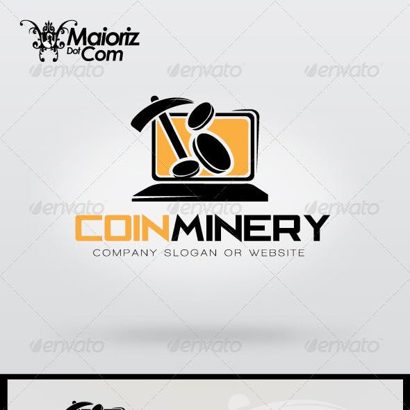 Coins Minery Logo Template