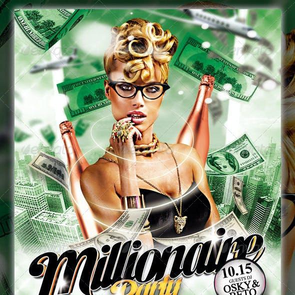 Millionaire Party Flyer