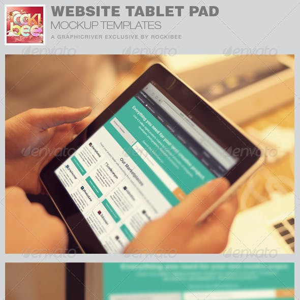 Website Tablet Pad Mockup Templates