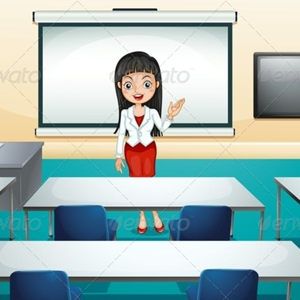 Woman in Conference Room