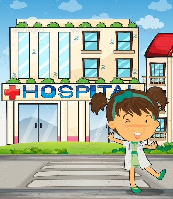 Cute Doctor and Hospital - People Characters
