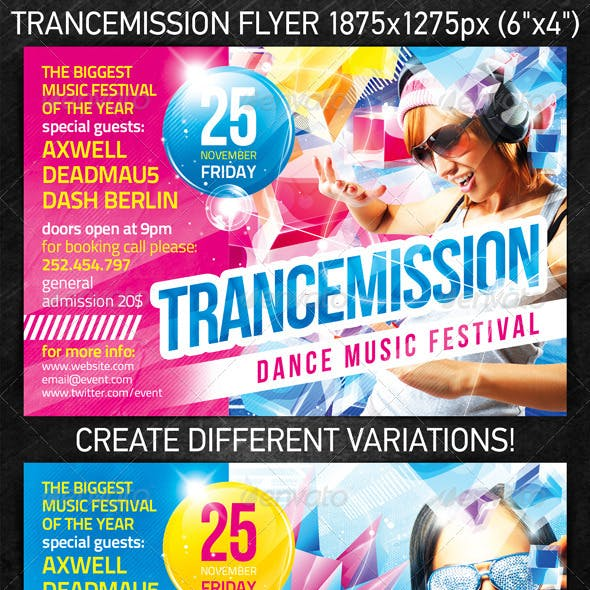Trancemission Party Flyer