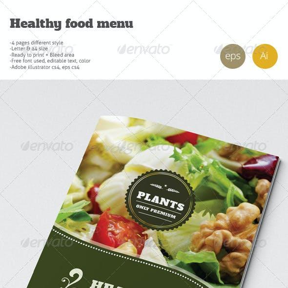 Healty Restaurant Fresh Food Menu