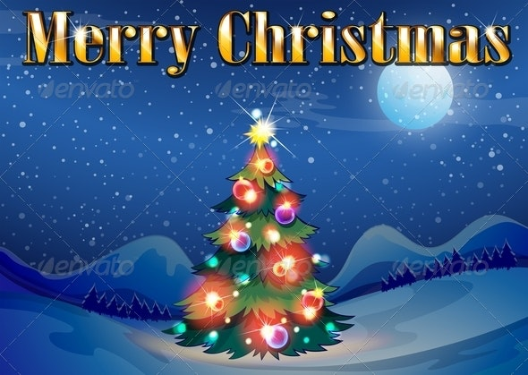 Sparkling Christmas Tree - Christmas Seasons/Holidays