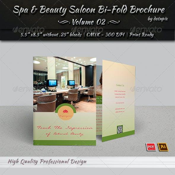 Spa & Beauty Saloon Bi-Fold Brochure | Volume 2