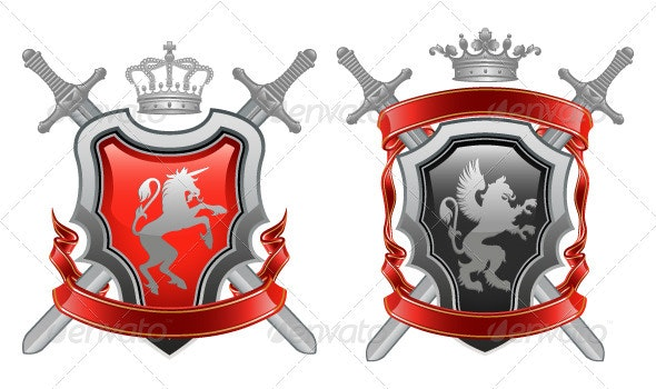 Coat of arms. Vector illustration. - Decorative Symbols Decorative