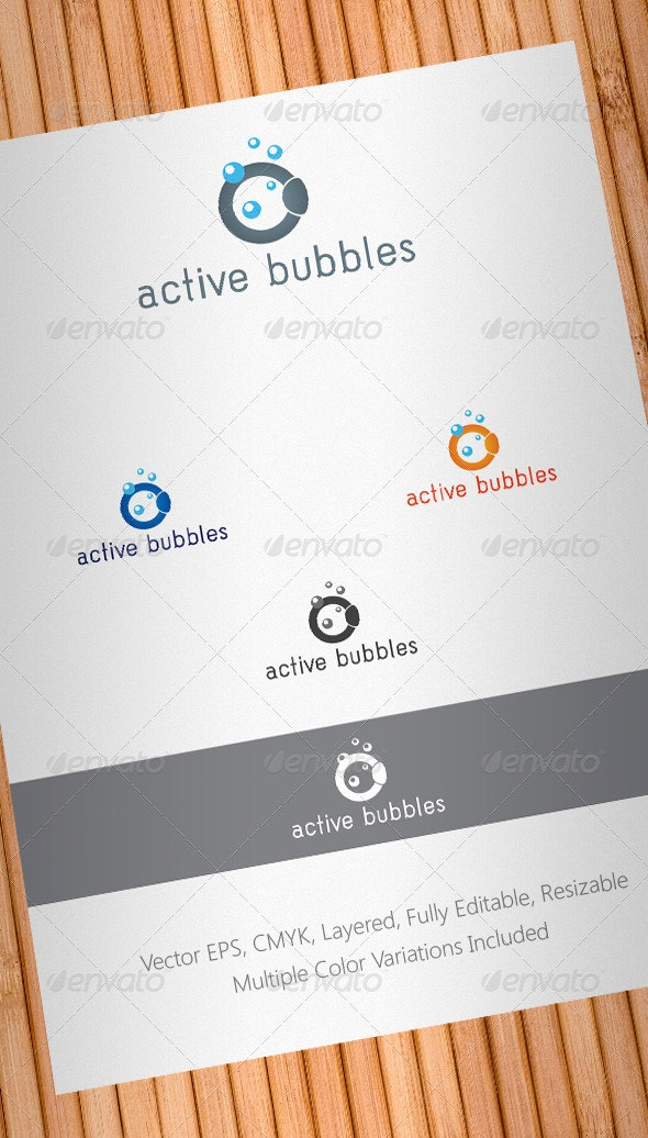 Active Bubbles Logo Template - Objects Logo Templates