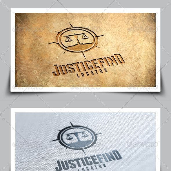 Find Justice Logo Template