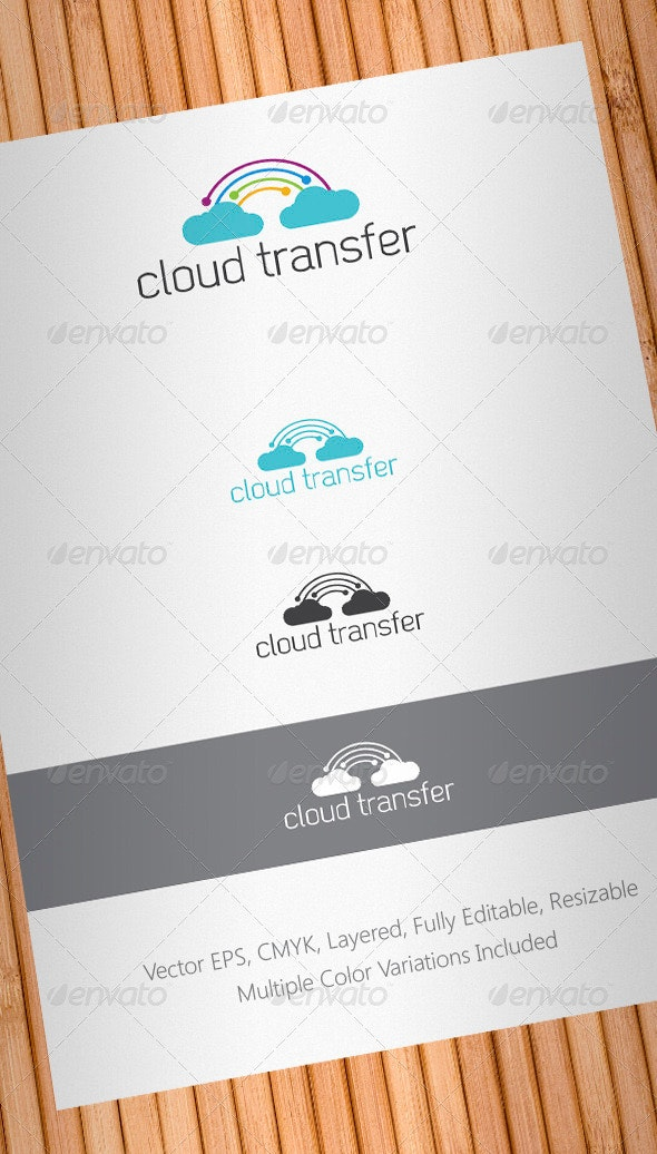 Cloud Transfer Logo Template - Abstract Logo Templates