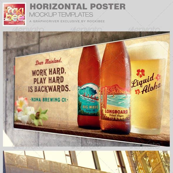 Horizontal Poster Mockup Templates