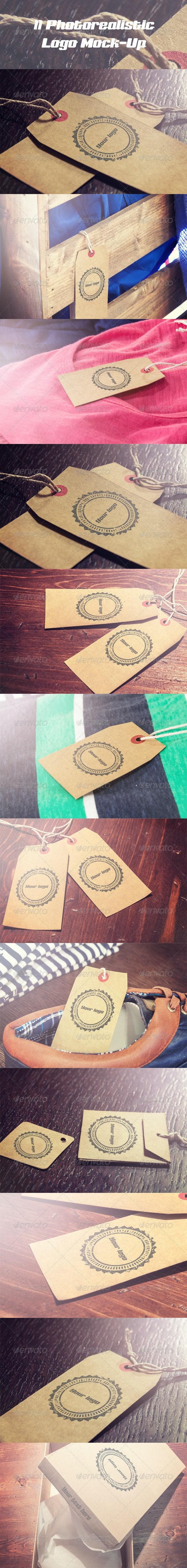 11 Photorealistic Logo Mock-Up - Logo Product Mock-Ups