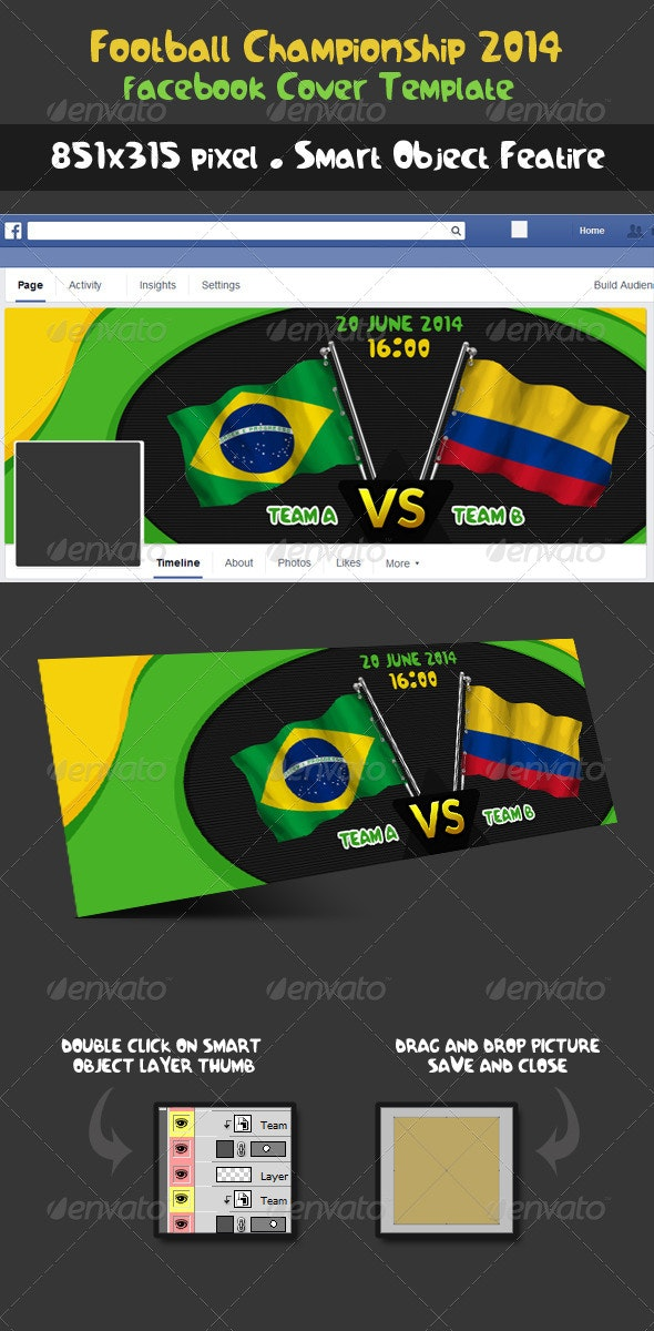 Football Soccer Championship Fixture Facebook Cover - Facebook Timeline Covers Social Media