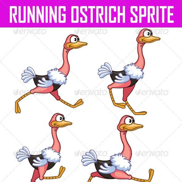 Running Ostrich Sprite