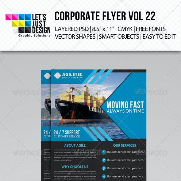 Corporate Flyer Template Vol 22