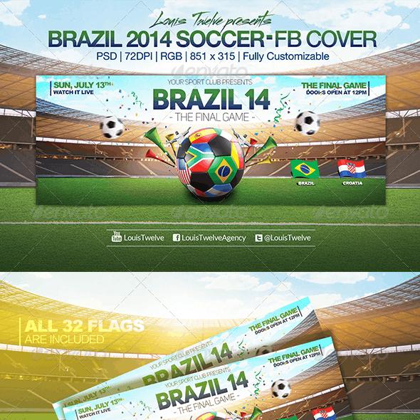 Brazil 14 Soccer Tournament | Facebook Cover