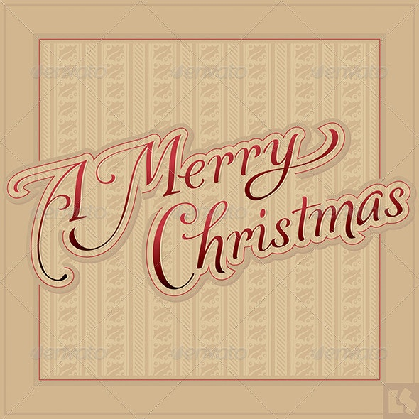 Merry Christmas Hand Lettering (vector) - Christmas Seasons/Holidays