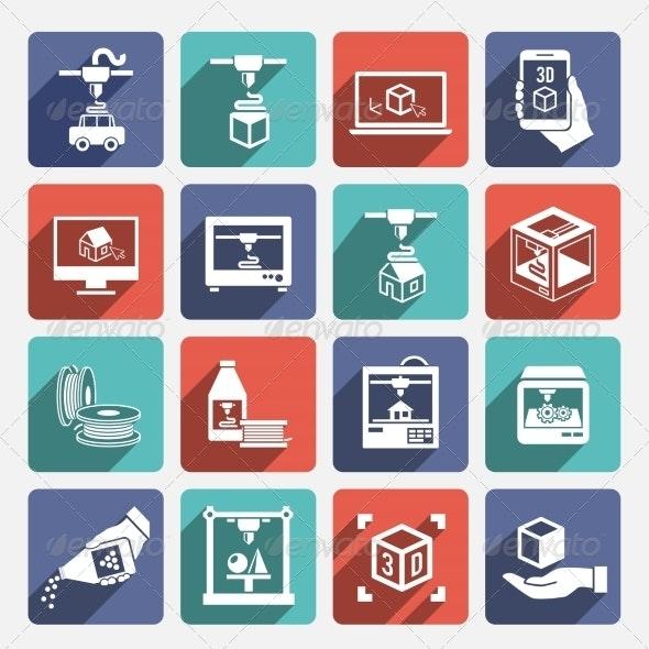 Printer 3d Icons
