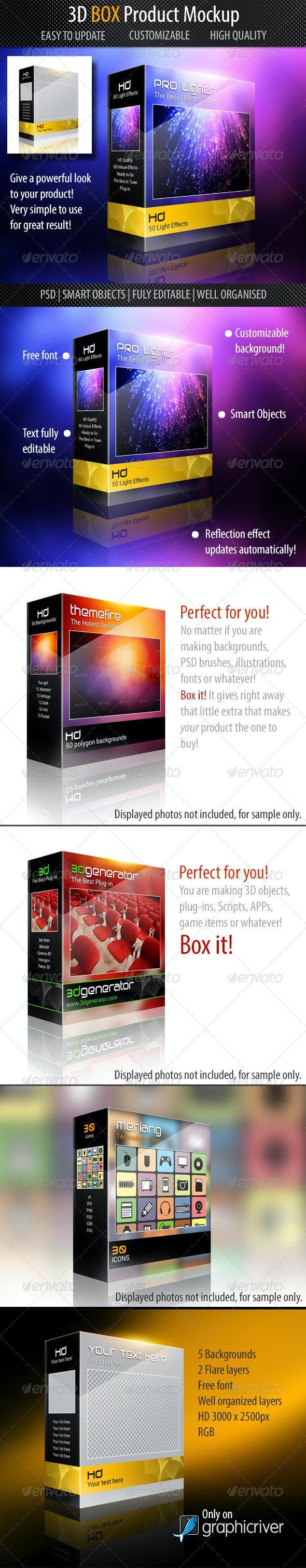 3D Box Mockup - Packaging Product Mock-Ups
