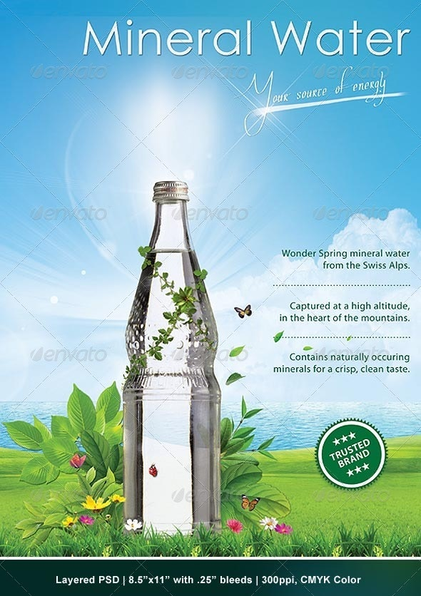 Green Advertising Poster - Clubs & Parties Events