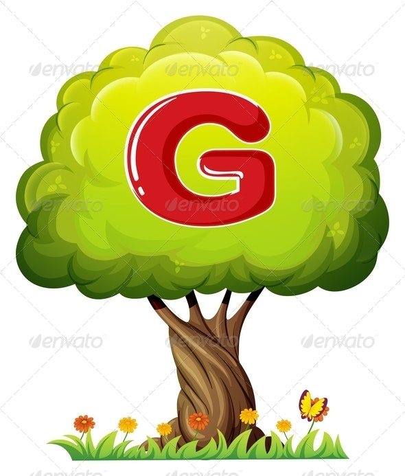 Tree With Letter G - Flowers & Plants Nature