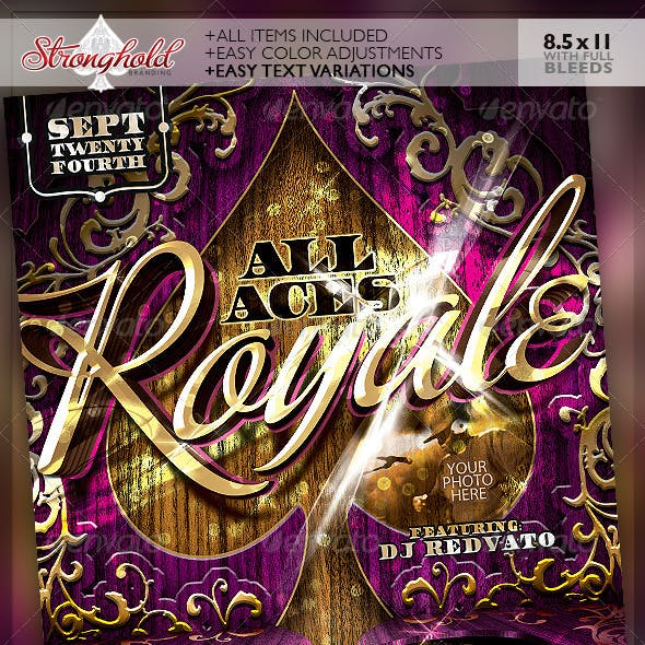 All Aces Royale Event Party Flyer Template