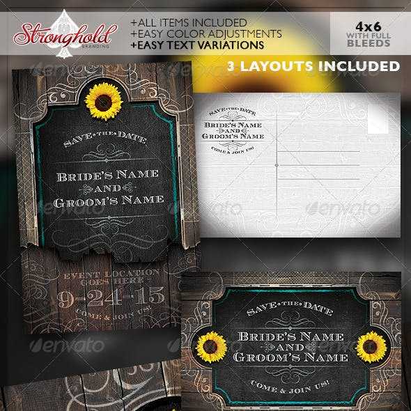 Western Save The Date Wedding Flyer Template