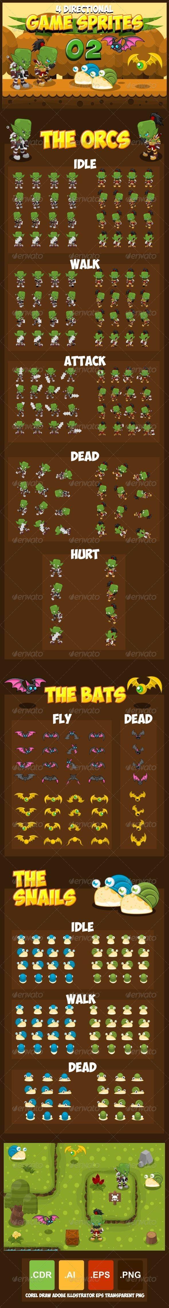 Game Sprites 2 - Sprites Game Assets