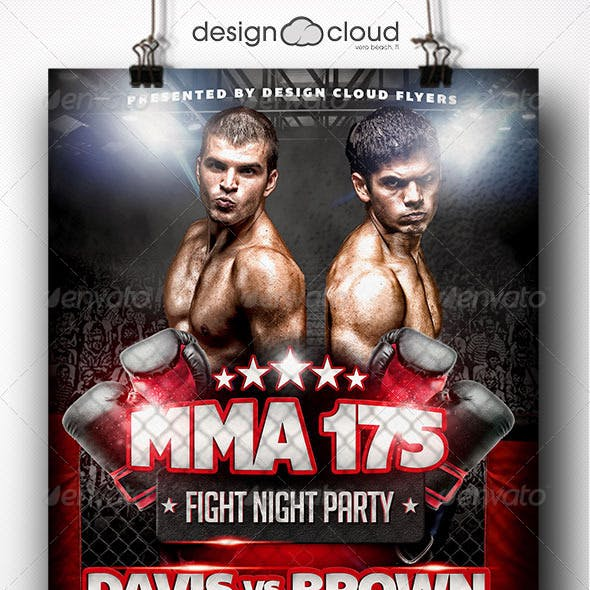 MMA Fight Night Party Flyer Template