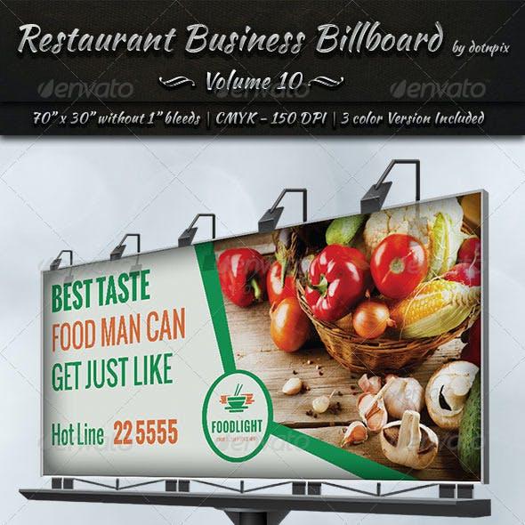 Restaurant Business Billboard | Volume 10