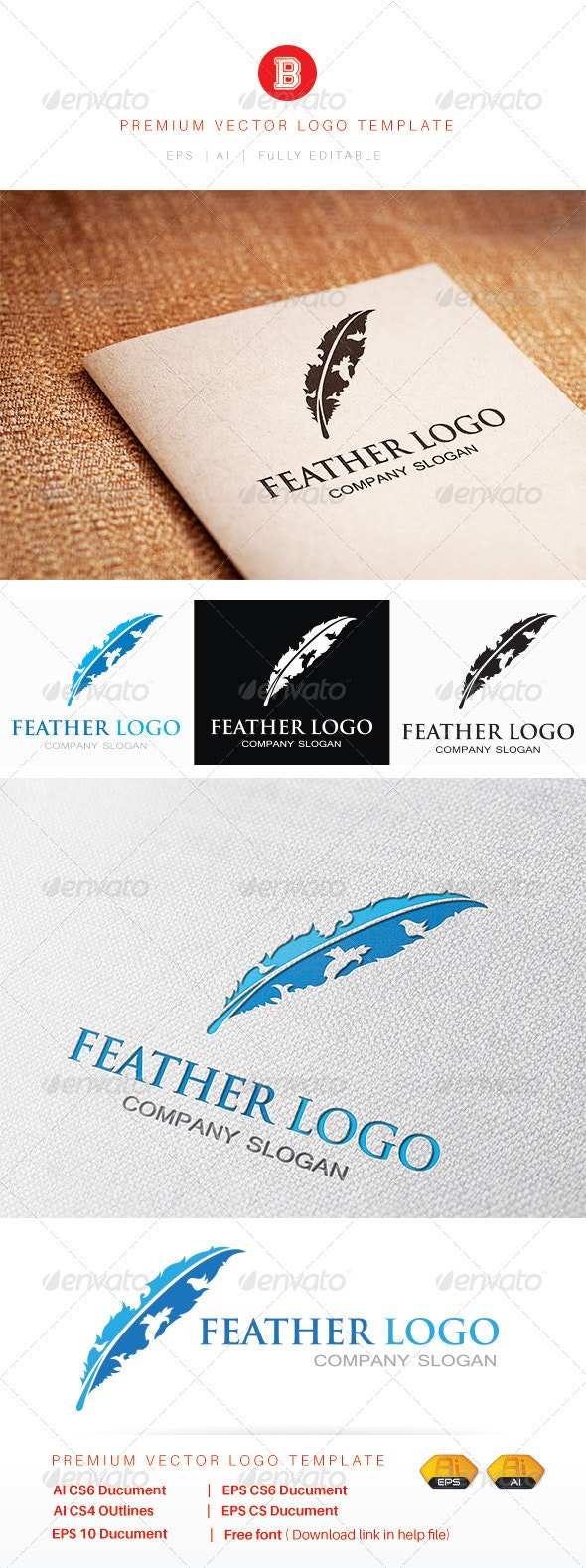 Feather Logo - Animals Logo Templates