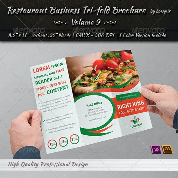 Restaurant Business Tri-Fold Brochure | Volume 9
