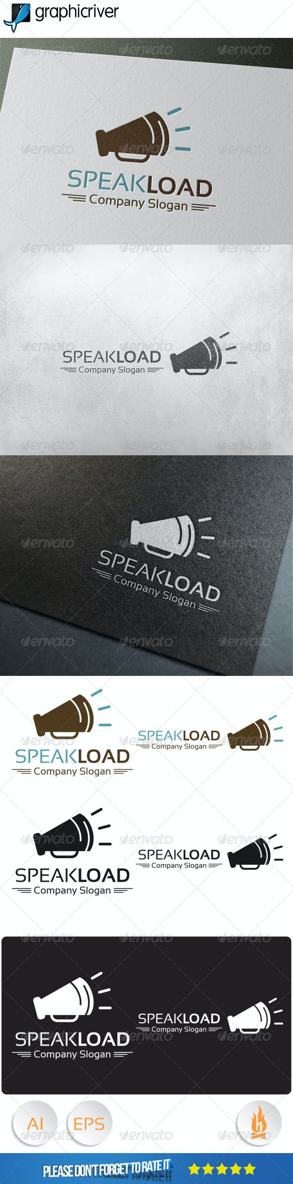 Speak Load Logo - Symbols Logo Templates