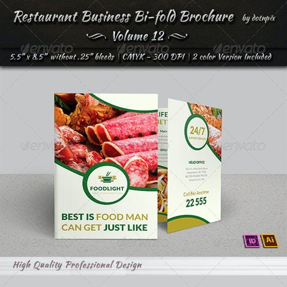Restaurant Business Bi-Fold Brochure   Volume 12