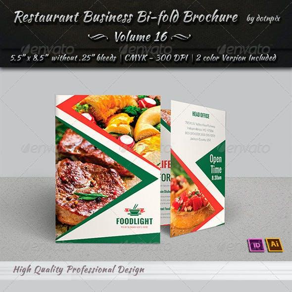Restaurant Business Bi-Fold Brochure | Volume 16