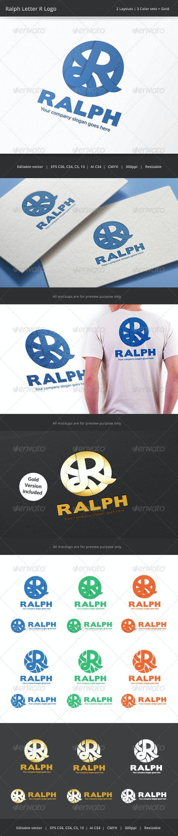 Ralph Letter R Logo - Letters Logo Templates