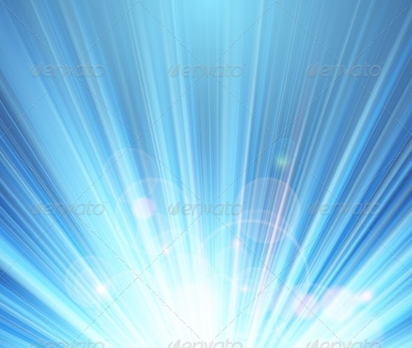 Blue Shining Magic Light Background - Backgrounds Decorative