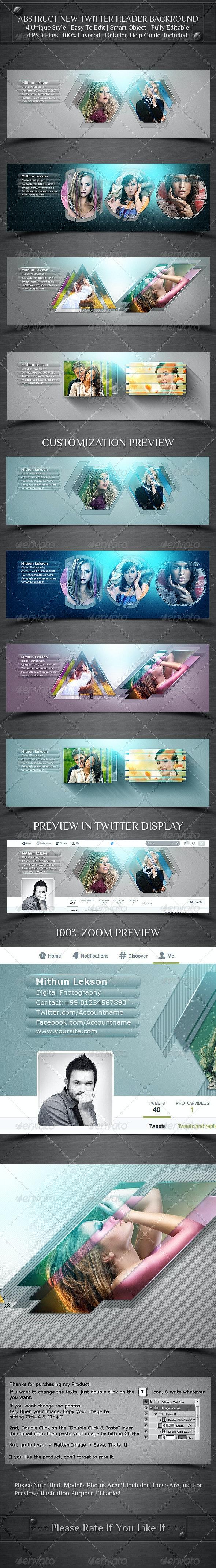 Abstruct New Twitter Profile Header Backround - Twitter Social Media