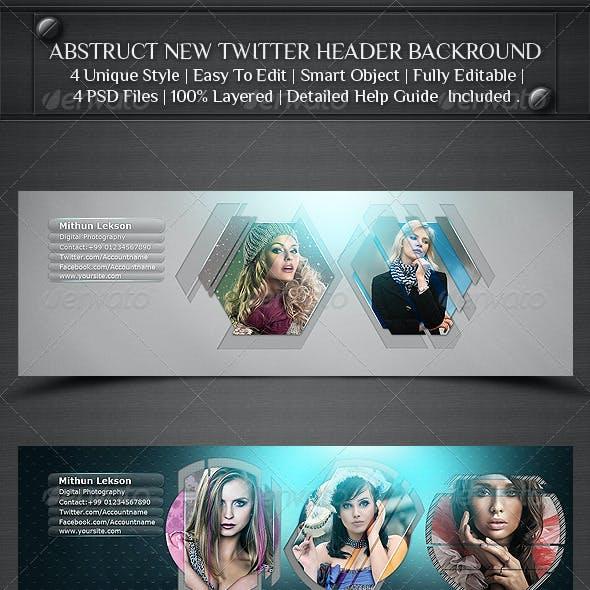 Abstruct New Twitter Profile Header Backround