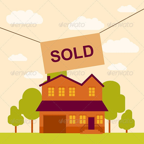 Sold House  - Business Conceptual