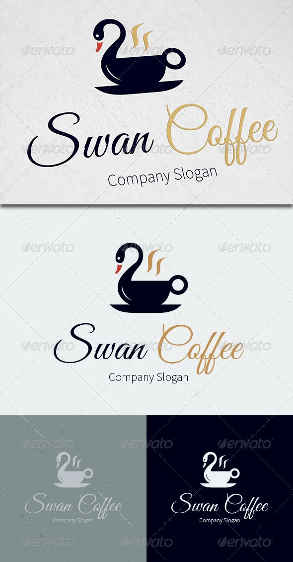 Swan Coffee Logo Template - Food Logo Templates