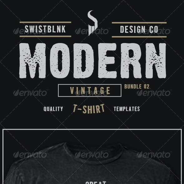 Modern Vintage T-Shirt Bundle 02