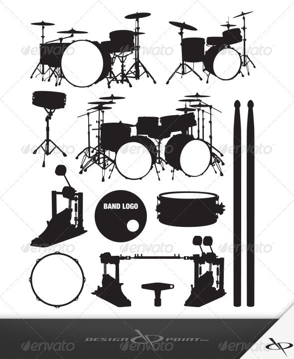 Drum Set - Man-made Objects Objects