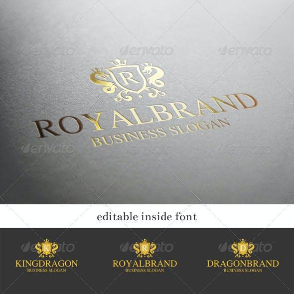 Royal Brand - Dragon King Crest Logo