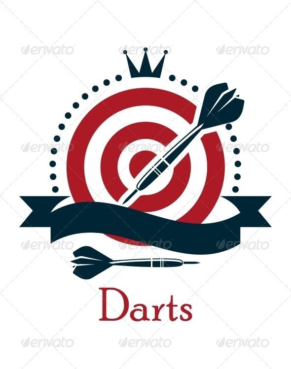 Darts Championship Emblem - Sports/Activity Conceptual
