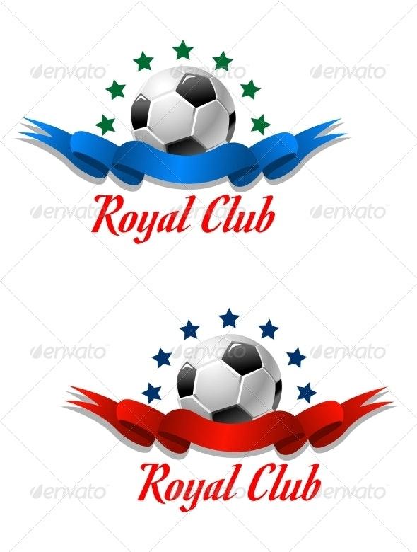 Royal Club Soccer Championship Emblem - Sports/Activity Conceptual
