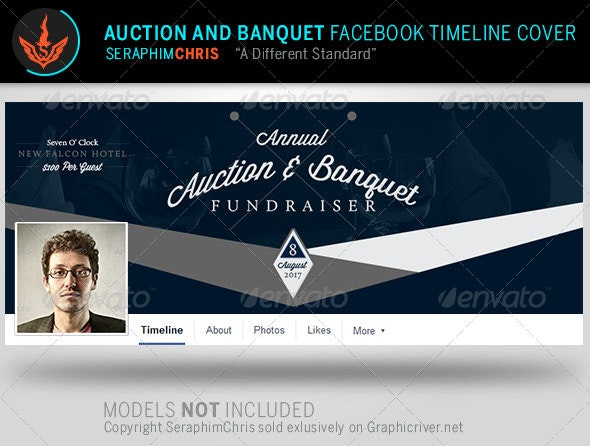 Auction and Banquet Facebook Timeline Template - Facebook Timeline Covers Social Media