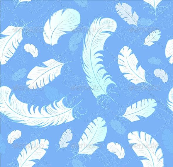 Pattern of White Feathers - Patterns Decorative