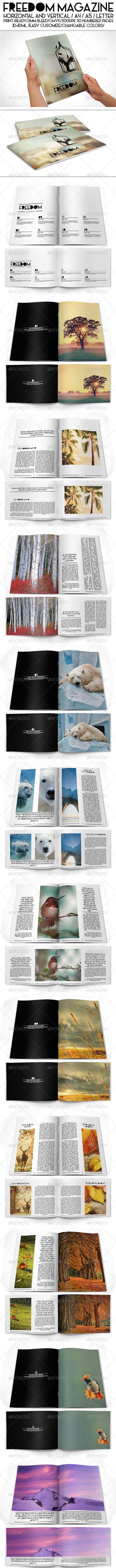 Freedom Magazine Pack - Magazines Print Templates